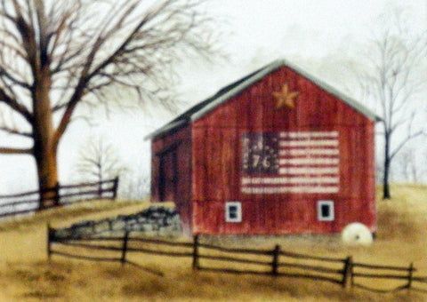 Billy Jacobs The Christmas Barn 16 x 12