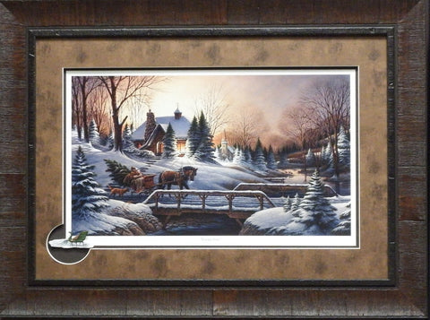 Terry Redlin Heading Home with Cameo-Framed 27.5 x 20.5