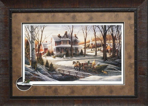 Terry Redlin Homeward Bound with Cameo-Framed 27.5 x 20.5