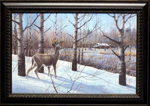 Les Kouba Deer Camp-Framed