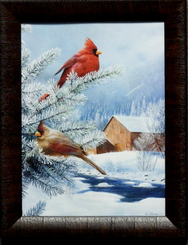 Kevin Daniel Frosty Morning Cardinals-Framed