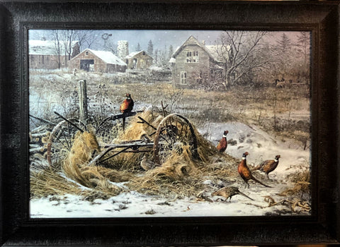 Scott Zoellick Days Gone By Pheasant Farm Art Print- Framed