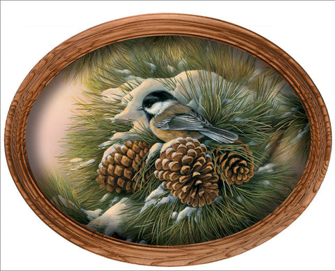 Rosemary Millette December Dawn-Framed Chickadee
