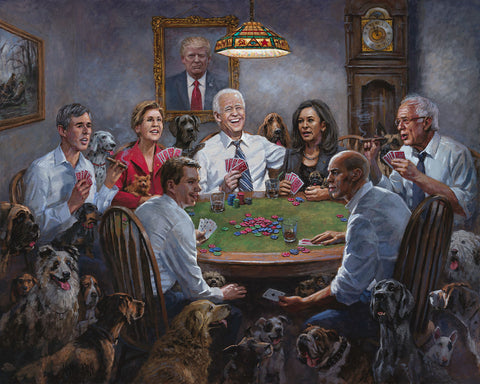 Jon McNaughton Democrats Playing Poker Signed Art Print