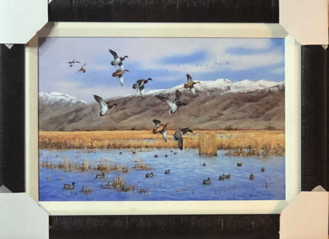 James Killen Doug's Mallard Alley Canvas Duck Hunting Art Print-Framed