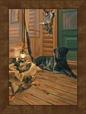 Scot Storm Bountiful Day Black Lab Framed