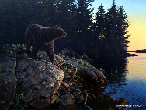 "Finders Keepers Bear Mountain  Scene By Derk Hansen  24/"" x 16/"""
