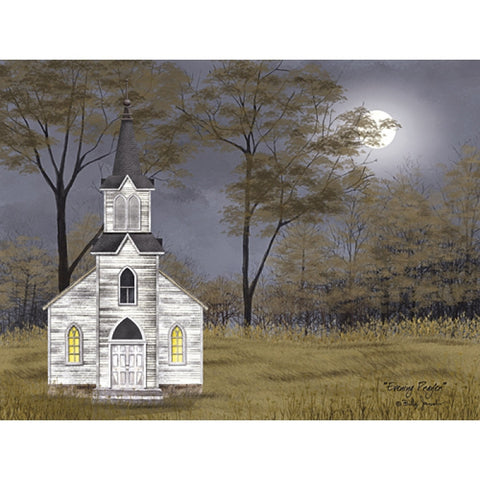 Billy Jacobs Evening Prayer Church Full Moon Art Print