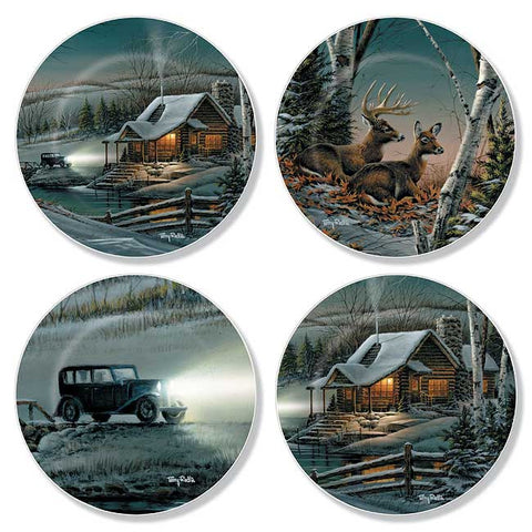 Mini Plate Set- Terry Redlin Evening With Friends