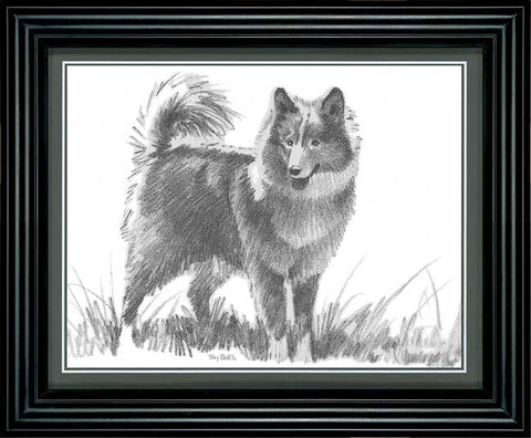 Terry Redlin Terry's Dog Pencil Sketch