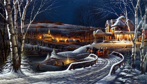 Terry Redlin Holiday Print FAMILY TRADITIONS