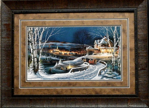 Terry Redlin Family Traditions Holiday Print-Framed
