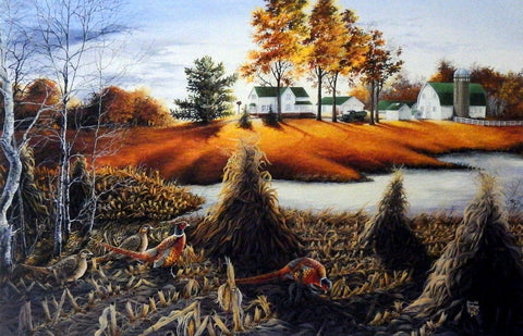 Don Blakney Farm Pheasant Art Print