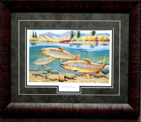 Cynthie Fisher Morning Brown Print-Framed