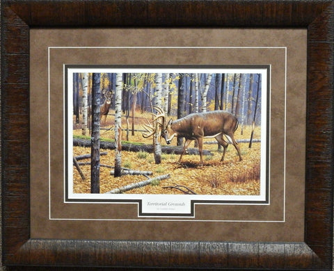 Cynthie Fisher Territorial Grounds Deer Print-Framed