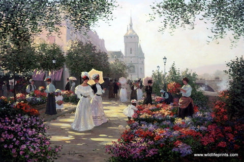 Christa Kieffer Flower Market on the Seine in Paris Picture