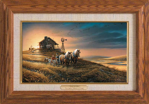 Terry Redlin For Amber Waves-Master Stroke-FREE SHIPPING