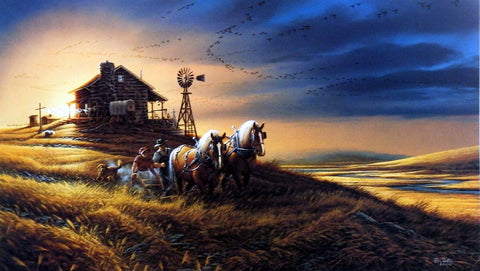 Terry Redlin For Amber Waves of Grain