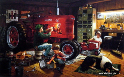 Charles Freitag Farmall IH Red Tractor Picture
