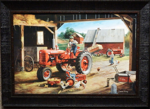 Charles Freitag Farmall Friends Print-Framed