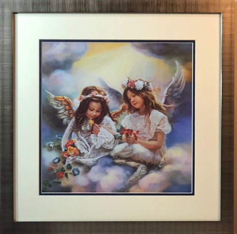 Sandra Kuck Gift Fron An Angel Girl Children Art Print-Framed
