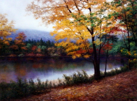 Diane Romanello Fall Art Print Golden Autumn