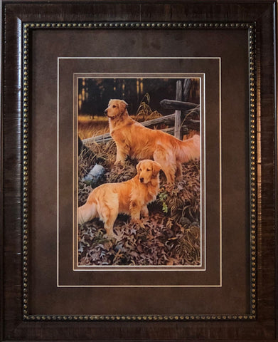 Jerry Gadamus Golden Heritage Retriever Print-Framed