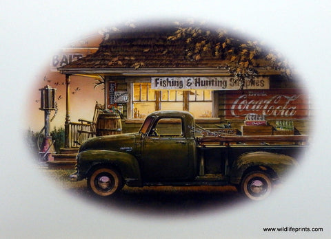 Dan Hatala Picture of old Bait Shop Old Ford Truck