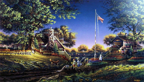 Terry Redlin Patriotic Print GOOD MORNING, AMERICA!
