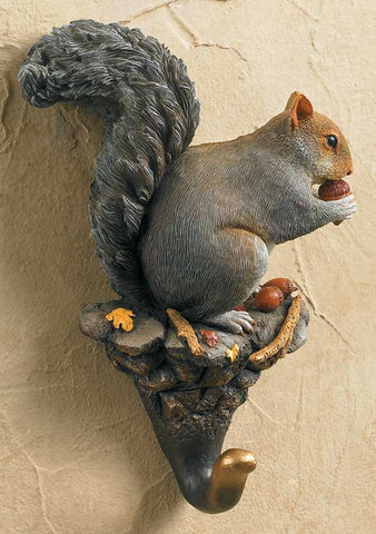 Wall Hook- Gray Squirrel