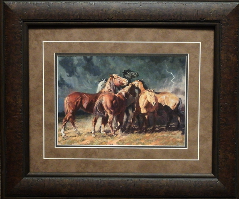 Bruce Greene Storm on the Plains Horse Art Print-Framed