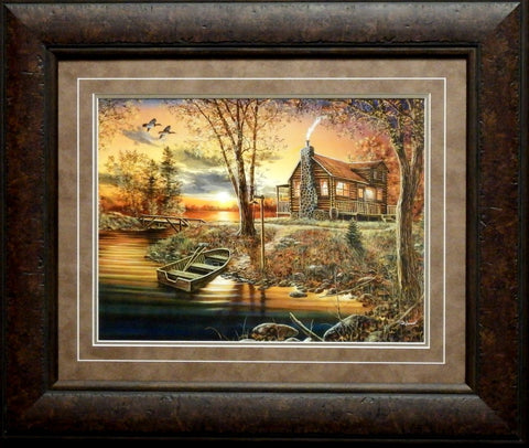 Jim Hansel As Night Falls-Framed