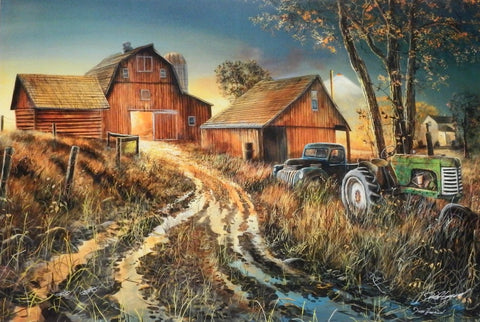 Jim Hansel Diamonds in the Rough Tractor Farm S/N Art Print