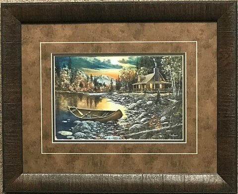 Jim Hansel High Country Retreat- Framed