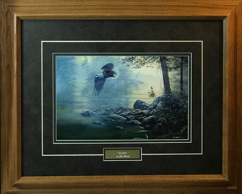 Jim Hansel Majesty Bald Eagle Art Print-Framed
