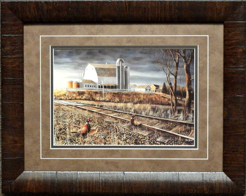 Jim Hansel At the Crossing-Framed  19 x 15