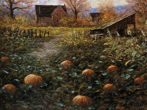 Jon McNaughton Harvest Memory Pumpkin Patch Art Print 14 x 11