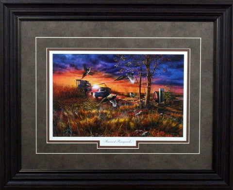 Jim Hansel Harvest Ringnecks- Framed