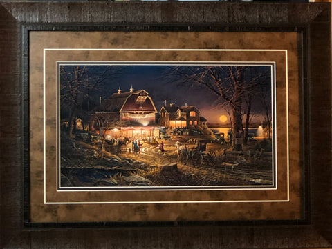 Terry Redlin Harvest Moon Ball Country Art Print-Framed