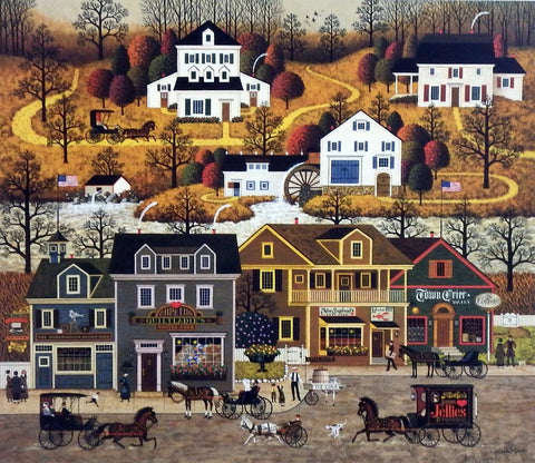 Charles Wysocki Small Town Americana Picture