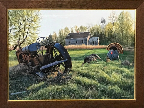 Jim Kasper Heavy Metal Wild Turkey Studio Canvas-28.5 x 21.5