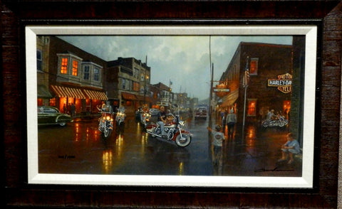 Dave Barnhouse Here they Come S/N Canvas Print-Framed