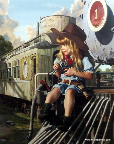 Bob Byerley Children's Print HIGH NOON Cowgirl
