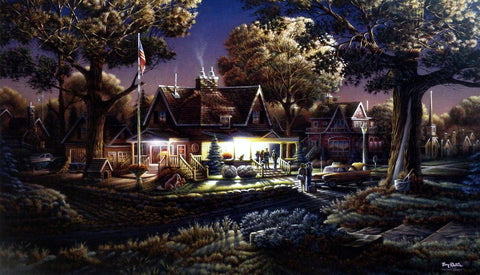 Terry Redlin patriotic print HIS FIRST GOOD-BYE