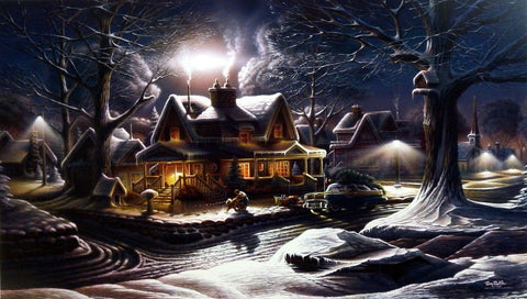 Terry Redlin Christmas Holiday print HIS FIRST HOMECOMING