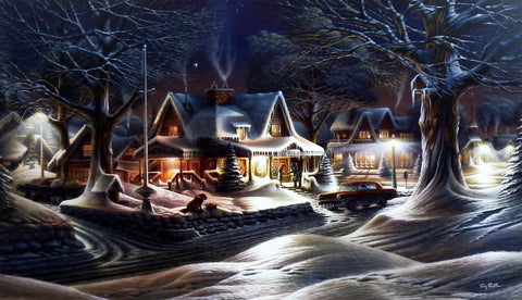 Terry Redlin print HIS LAST GOOD-BYE