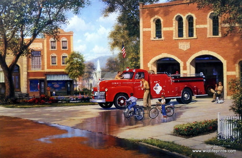 George Kovach Firefighters Fire Truck Picture