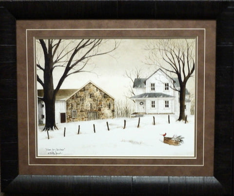 Billy Jacobs Home For Christmas Art Print-Framed