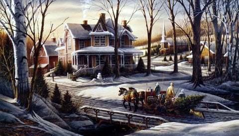 Terry Redlin Christmas Holiday print HOMEWARD BOUND