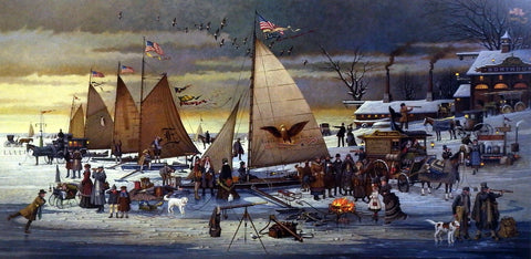 Charles Wysocki Picture Yacht Racing on Chesapeake Bay